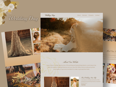 Wedding Day Website uiux ui design ui app website figma ux web branding design