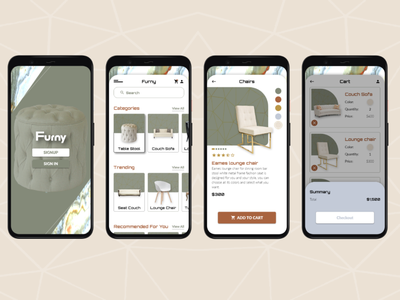 Furniture App app ui design ui design