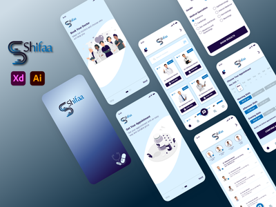 Shifaa (Medical App) uidesign ui  ux uid app adobexd logo uiux ui design ui design