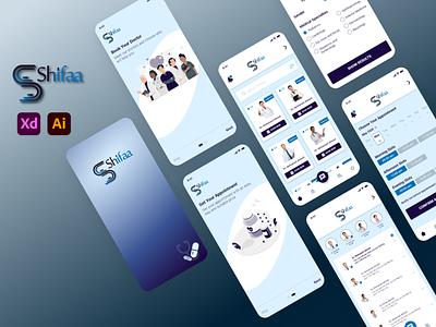 Shifaa (Medical App) uidesign ui  ux uid app adobexd logo uiux ui design ui design