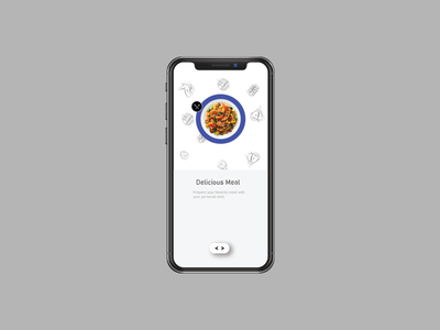 Food ui app design