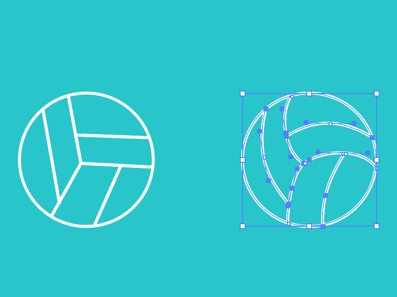 Volleyball Icon illustration bezier vector pentool sports volleyball ball ui flat lines icons wip