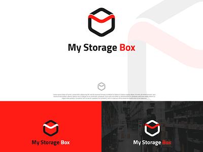 My Box Storage logo minimal branding logo illustrator graphic design design logodesign my box storage boxing box