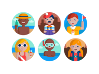 Travel People Icons design illustration icon icons coloured icons flat icons profile avatar icons