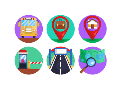 Location Flat Icons design icons highway map house pin flat icons vectors icons pack location pin pins location