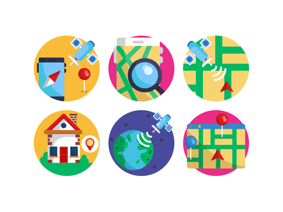 Satellite Icons navigation gps route house location map location pin localization geolocation icons pack flat icons satellite icons icons satellite