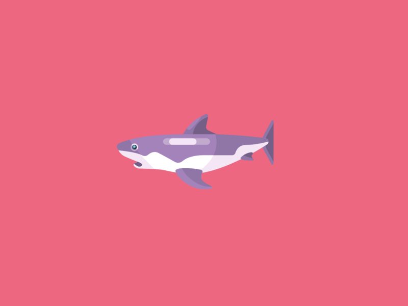 Animal Avatar flat icon vector design animal avatar avatar shark