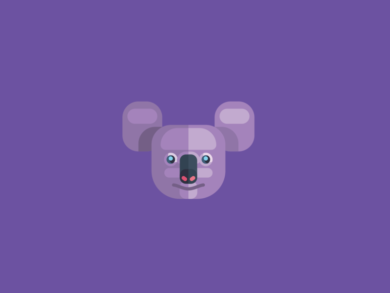Animal Avatar koala face koala iconography ux ui design icon vector animal avatar