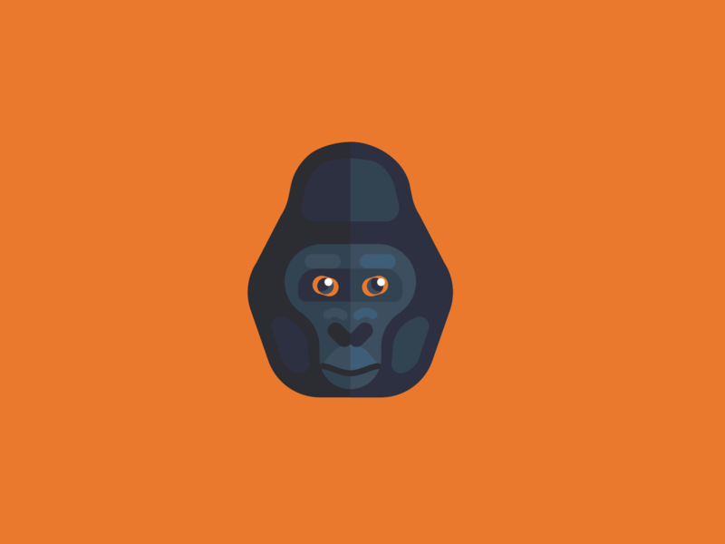 Animal Avatar gorila design ui ux flat icon icon vector gorilla head gorilla logo gorilla