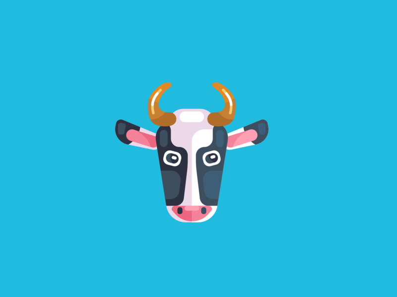 Animal Avatar illustration icons design cow avatar animal avatar cow logo cow head cow