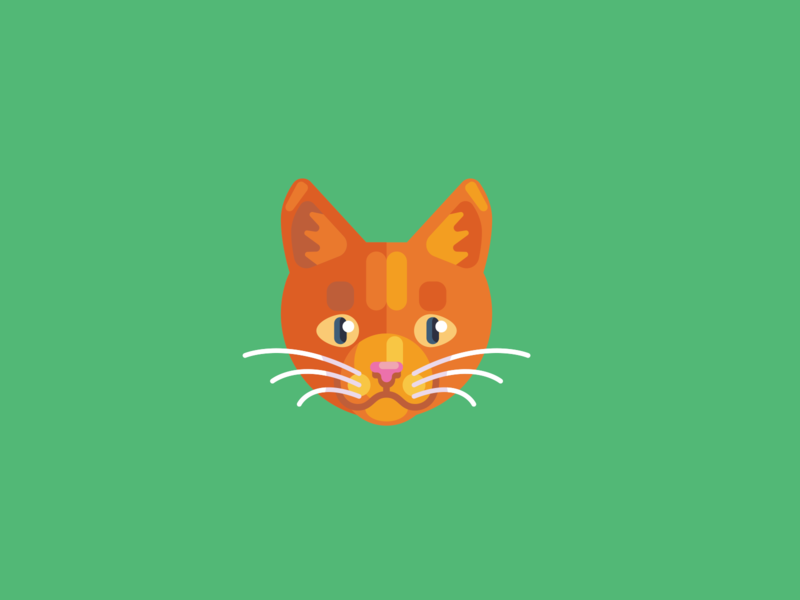 Animal Avatar iconography illustration ui design cat avatar animal avatar cat head cat logo cat
