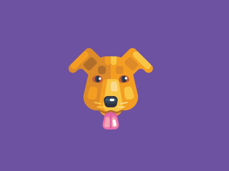 Animal Avatar flat icon icon graphic design dog face dog avatar animal avatar vector icons dog logo dog head dog