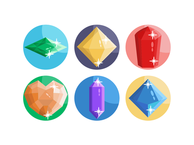 Gemstones Icons diamonds diamond gemstone icons pack icon vectors coloured icons vector icons flat icons
