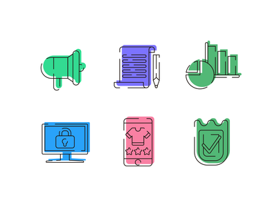 Ecommerce Style Icons online shopping online store ecommerce icons pack icon vectors coloured icons vector icons flat icons