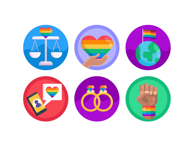 Pride LGBT Icons rainbow gaypride gay lgbt pride icons pack icon coloured icons vectors vector icons flat icons