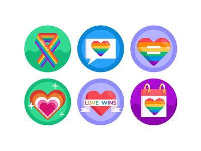 Pride LGBT Icons pride month gaypride gay rainbow lgbt pride illustration icons pack icon coloured icons vectors vector icons flat icons