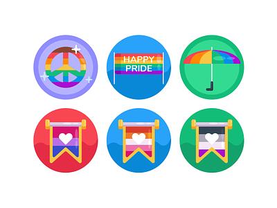 Pride LGBT Icons gaypride gay pride month lgbtq lbgt lgbtqia icons pack icon coloured icons vectors vector icons flat icons