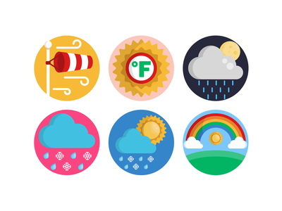 Weather Icons rain weather icon weather forecast weather app weather rainbow icons pack icon coloured icons vectors vector icons flat icons