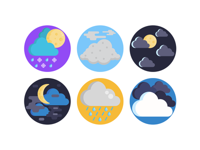 Weather Icons cloud rain weather app weather forecast weather icon weather illustration icons pack icon coloured icons vectors vector icons flat icons