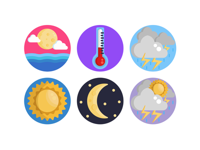 Weather Icons cloud weather forecast weather app weather icon weather icons pack icon coloured icons vectors vector icons flat icons