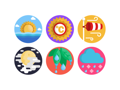 Weather Icons snow sun windy wind sock weather forecast weather icon weather app weather illustration icons pack icon coloured icons vectors vector icons flat icons