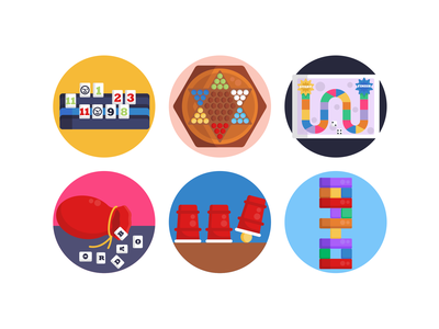 Board Games Icons scrabble jenga gaming app board games gaming icons pack icon coloured icons vectors vector icons flat icons