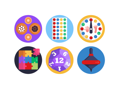 Board Games Icons puzzle gaming app board games gaming icons pack icon coloured icons vectors vector icons flat icons