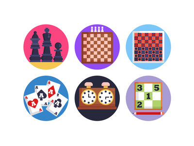 Board Games Icons sudoku chessboard poker gaming gaming app board games chess piece chess icons pack icon coloured icons vectors vector icons flat icons
