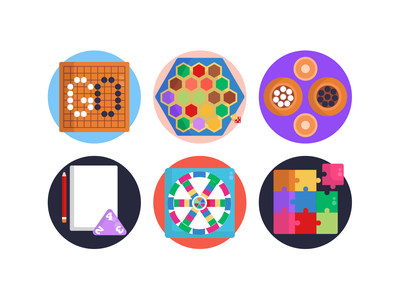 Board Games Icons board games puzzle game icons pack icon coloured icons vectors vector icons flat icons