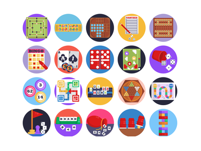 Board Games Icons jenga poker gaming gaming app board games chess icon coloured icons vectors vector icons icons pack flat icons