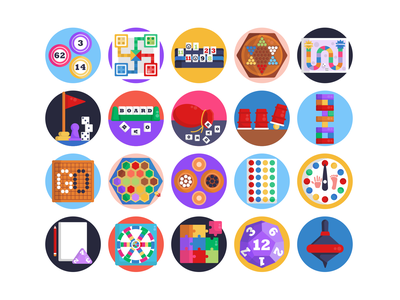 Board Games Icons chess scrabble gaming board games icons pack icon coloured icons vectors vector icons flat icons