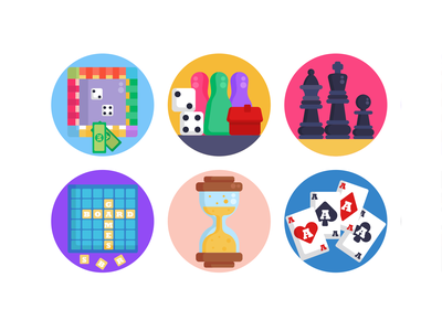 Board Games Icons poker chess piece chess gaming board game icons pack icon coloured icons vectors vector icons flat icons