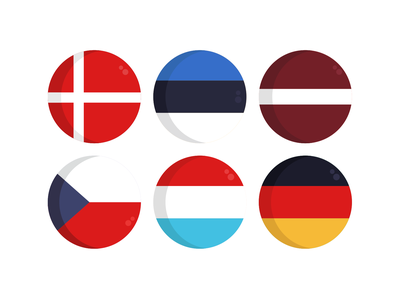 Country Flag Icons vector icons flat icons nationality country flags