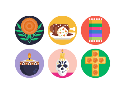 Day of the Dead Icons halloween scary skull icons pack icon coloured icons vectors vector icons flat icons day of the dead