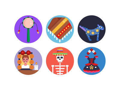Day of the Dead Icons scary halloween costume icons pack icon coloured icons vectors vector icons flat icons day of the dead