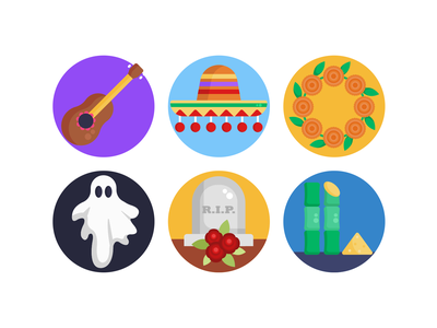 Day of the Dead Icons icon icons pack coloured icons vectors vector icons flat icons day of the dead costume ghost