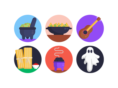 Day of the Dead Icons holiday celebration ghost icons pack icon coloured icons vectors vector icons flat icons day of the dead