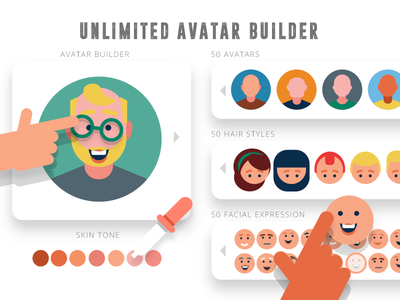 Avatar Builder flat design avatar flat icons avatar creator avatar icons avatar builder