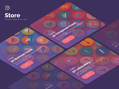 Dighital Store Design homescreen. app design material design flat design graphic design ecommerce shop design mobile design