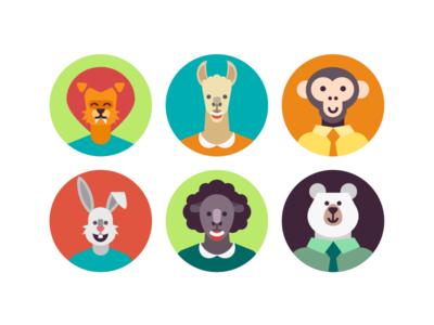 Animal Avatar Icons