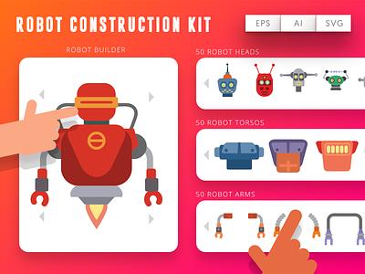 Robot Construction Kit robot vector robots illustration robots constructions robots maker robots robot