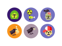 Halloween Zombie Icons