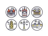 Landmark Line Icons 3