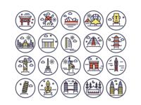 Landmark Line Icons Copy