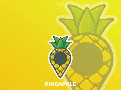 pinapple branding art minimal logo illustrator illustration icon graphic design flat design