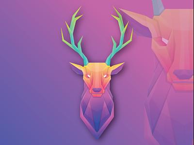 Deer logo concept logo