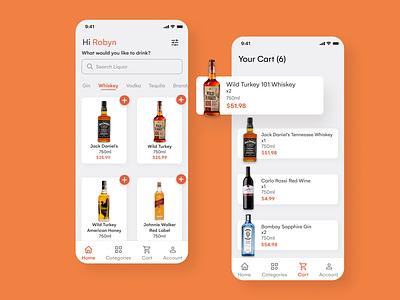 Liquor Store App Concept uiux liquor alcohol drinks minimal uxdesign uiuxdesign inspiration dribbble dailyui ux ui design app