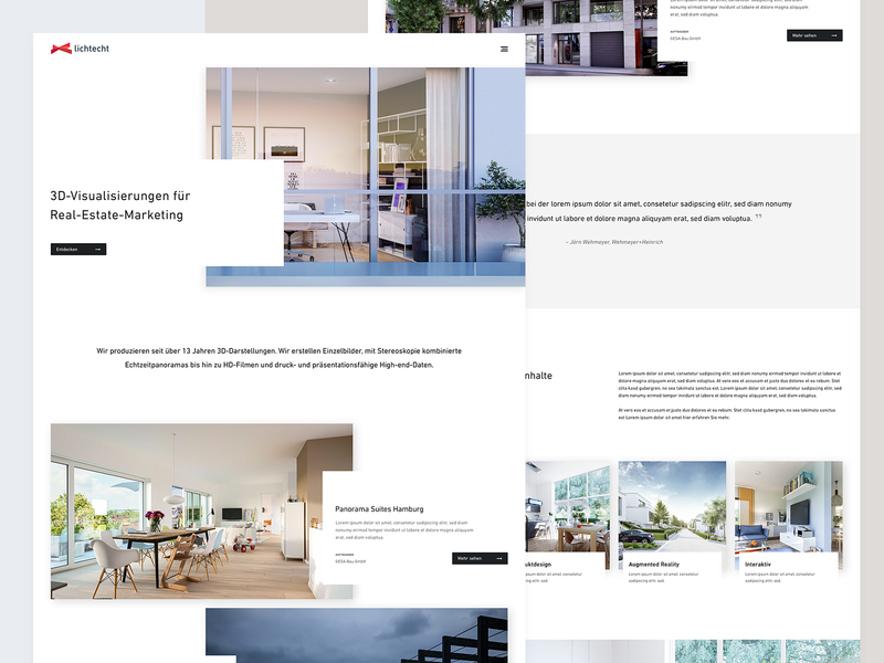 3D Agency – Homepage minimalistic clean cards quote case studies website web design ux ui 3d agency frontpage homepage
