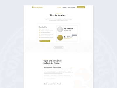 Sonnenland – Pricing & FAQ clean cards design website web faq features pricing ux ui