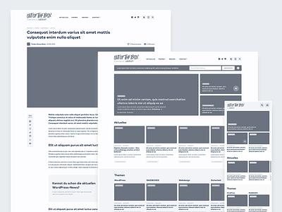 WP Magazine – Wireframes wireframing cards nav menu header social sharing article responsive mobile wireframes homepage website web ux ui